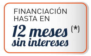 Financiación hasta 12 meses sin intereses