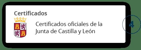 Certificados oficiales de la junta de Castilla y León